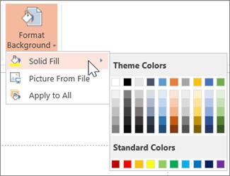 Format latar belakang dengan warna