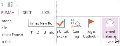 Anda boleh menghantar halaman melalui e-mel untuk berkongsi kandungannya