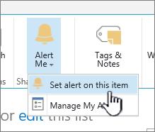 SharePoint 2016 menyediakan amaran pada item dengan item dipilih