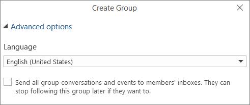 Pilih untuk menghantar e-mel Kumpulan ke Peti Masuk pengguna