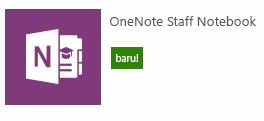 Cipta staff notebook baru.