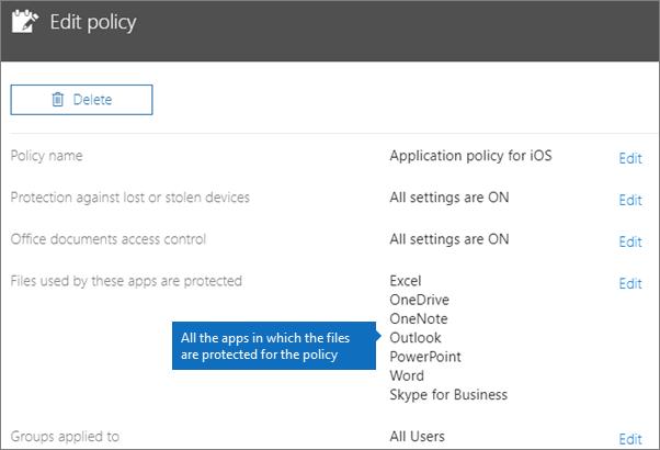 Menunjukkan semua aplikasi yang dasar ini melindungi fail.