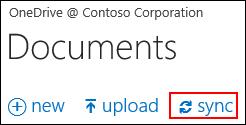 Menyegerakkan OneDrive for Business atau pustaka laman ke komputer anda