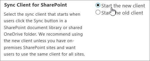 Seting pentadbir untuk klien penyegerakan OneDrive
