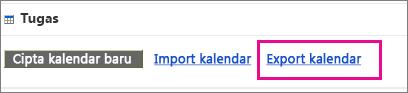 Pilih Eksport kalendar