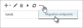 Nama titik akhir migrasi