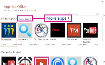 Klik Aplikasi lain untuk menyemak lalu aplikasi dalam gedung