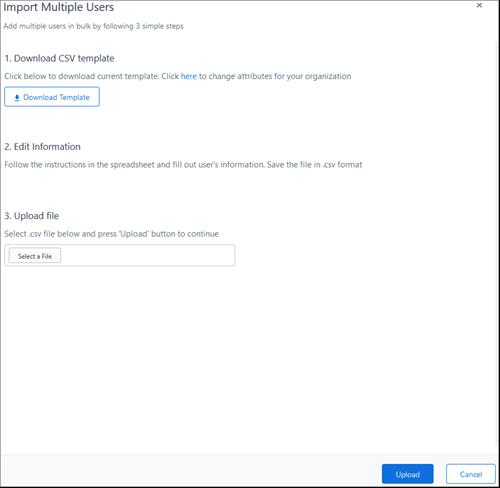 Petikan skrin: Tambah pengguna secara pukal ke Kaizala