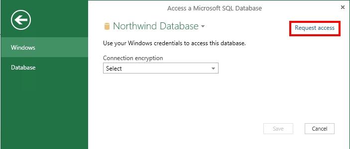 Meminta capaian ke sumber data