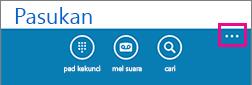 Ketik tiga titik di bahagian bawah skrin untuk menunjukkan menu seting lain