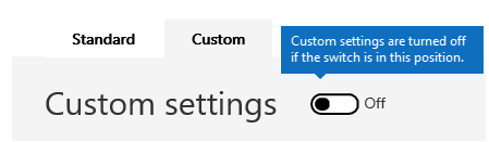 Petikan skrin ini menunjukkan penapis anti spam tersuai seting dasar dimatikan.