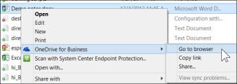 Melihat fail dalam folder disegerakkan dalam pelayar web