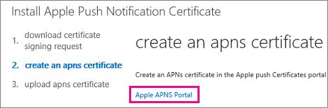 Pergi ke portal sijil tolakan Apple untuk mencipta sijil.