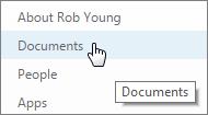Pilih dokumen dari laman peribadi