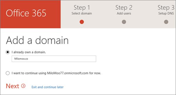 Menambah domain anda