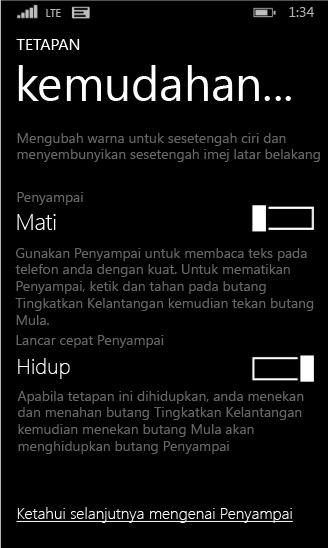 Seting penyampai telefon Windows