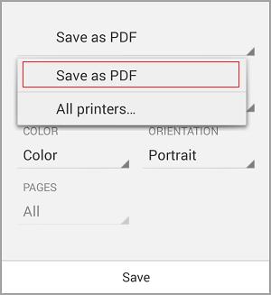 Pilih Simpan sebagai PDF