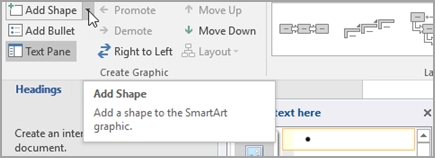 Menambah bentuk grafik SmartArt
