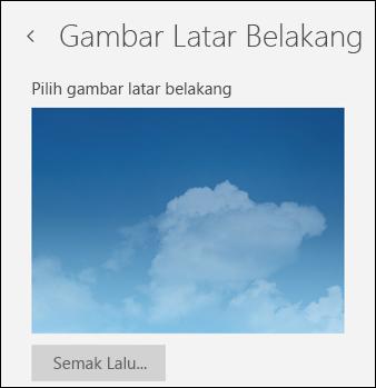 Gambar Latar Belakang dalam aplikasi Mel