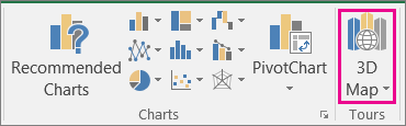 Opsyen Peta 3D Excel