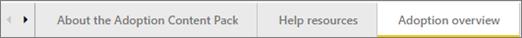 Gunakan tab di bahagian bawah papan pemuka untuk menavigasi ke halaman yang berbeza