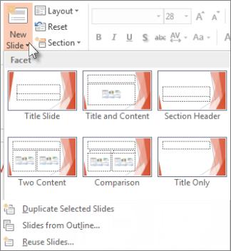 Tataletak Slaid Baru dalam PowerPoint.
