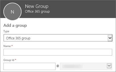 Mencipta kumpulan Office 365 yang baru, senarai edaran baru atau Kumpulan Keselamatan baru