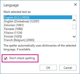 mematikan penyemakan ejaan automatik