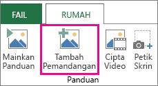 Tambah Pemandangan untuk panduan Power Map