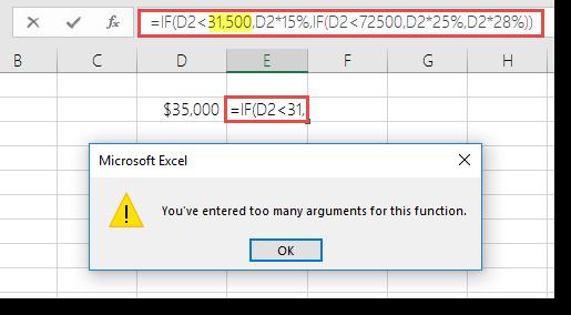 Excel mesej apabila anda menambah koma nilai