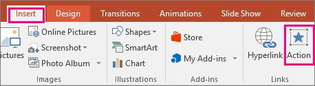 Menunjukkan butang selitkan > pengepala dalam PowerPoint