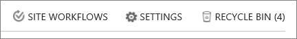 Pandangan butang tong kitar semula di dalam kandungan laman.