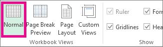 Pada tab Pandangan, klik Normal