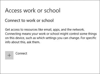Pilih sambung di bawah capaian kerja atau sekolah