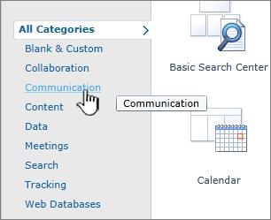 Klik kategori dan pilih aplikasi senarai yang anda inginkan