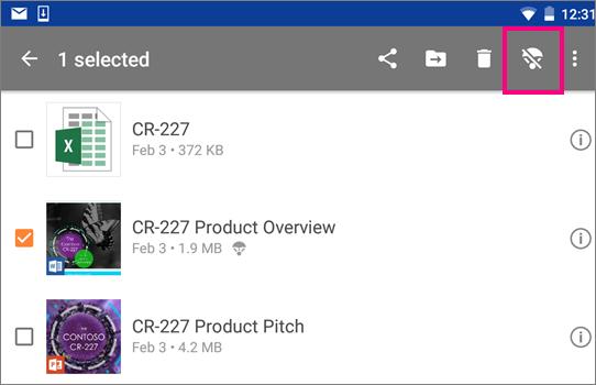 Kekalkan dalam talian OneDrive