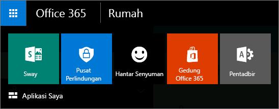 Pelancar aplikasi untuk pusat pentadbiran baru