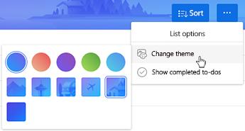 Pilih warna latar belakang bagi senarai anda.