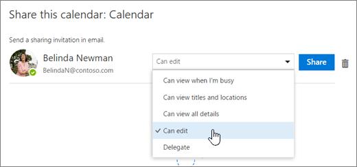 Petikan skrin kongsi dialog kalendar ini.