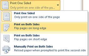 cetak pada kedua-dua belah