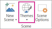 Opsyen Tema Peta 3D