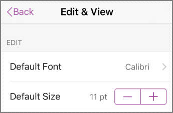 Ubah jenis dan saiz opsyen fon dalam seting iPhone.