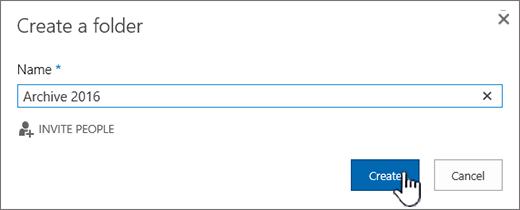 Mencipta folder untuk kotak dialog pustaka