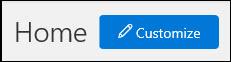 Petikan skrin butang sesuaikan pada halaman utama Pusat pematuhan & Keselamatan