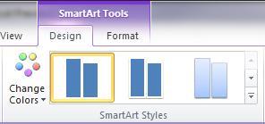 Kumpulan Gaya SmartArt pada tab Reka Bentuk di bawah Alat SmartArt