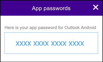 Catatkan kata laluan aplikasi anda