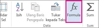 Butang formula untuk alat jadual