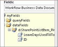 Pilih senarai medan data