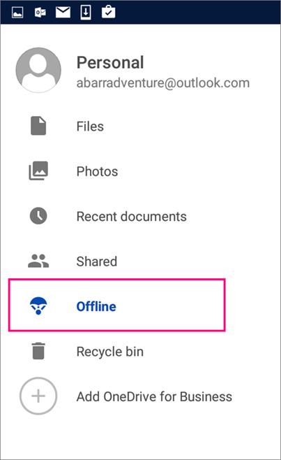 Folder Luar Talian OneDrive