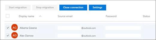 Semua pengguna anda disenaraikan dengan e-mel dipra-isi
